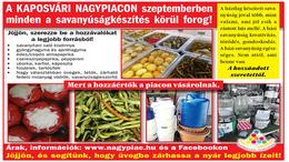 A Kaposvári Nagypiacról jelentjük