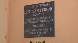 Emléktáblát kapott Lestyán Ferenc