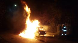 Autó lángolt Tabon