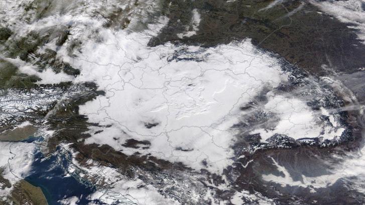 műholdkép: TerraModis/NASA