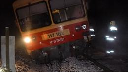 Kisiklott egy vonat Barcs közelében