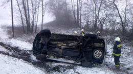 Felborult egy autó Homokszentgyörgyön