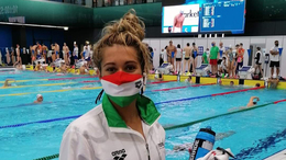 Egyéni csúcsot úszott Halmai Petra az úszó Eb középdöntőjében