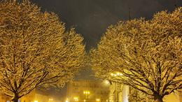 Ilyen volt hétfőn este Kaposvár belvárosa