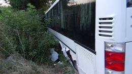 Árokba csúszott egy busz Csurgón