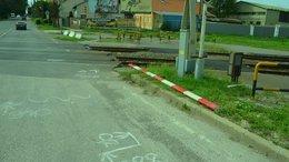 Valaki letörte a Pécsi utcai sorompót