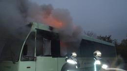 Kiégett egy busz Somogyegresen