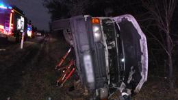 Teherautók ütköztek az M7-esen