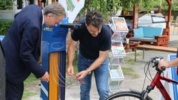 Újabb kerékpáros szervizoszlop
