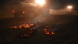 Lángolt a tarló, égett az aljnövényzet