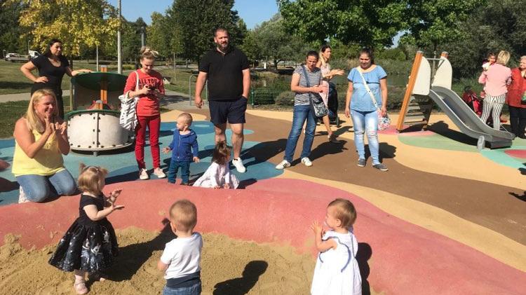 Életfa ünnepség a kaposvári Városligetben