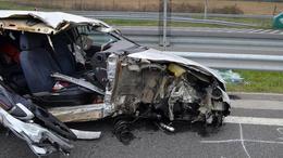 Rommá tört az autó a reggeli balesetben