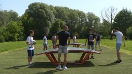 Teqball asztalok érkeztek a Városligetbe